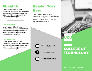 Green College of Technology Tri-Fold Brochure Template