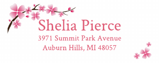 Cherry Blossom Address Label