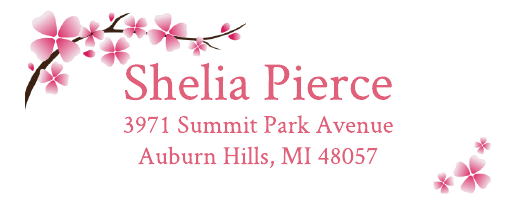 Cherry Blossom Address Label