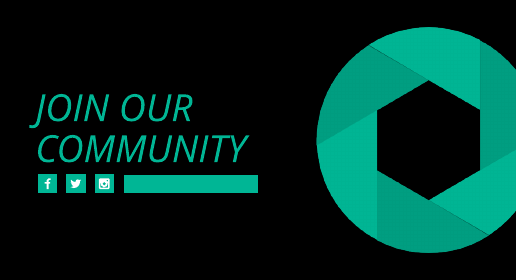 Black and Teal Logo Youtube End Screen Template