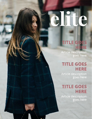 Right  Aligned Article Title Magazine Cover Template