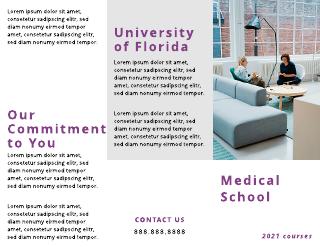 Simple Purple Medical School Tri-Fold Brochure Template