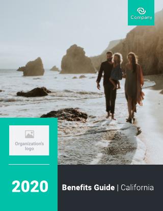 Health insurance company brochure template