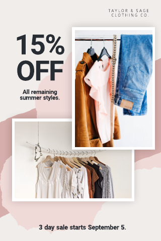 Clothing store coupon template