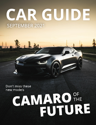 Double Title Car Magazine Cover Template