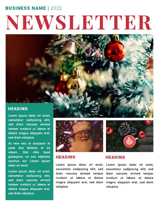 Business Christmas newsletter template