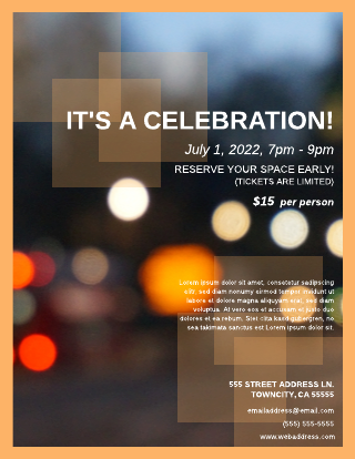 block party event flyer template