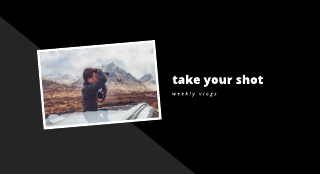 Black and White Photography Youtube Channel Art Template