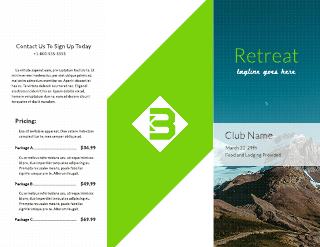 Prism Spa Tri-Fold Brochure Template