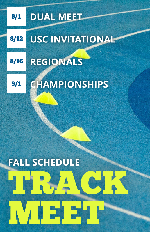 Blue and green track schedule template
