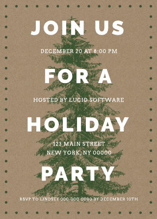 Holiday Party Invitation Business Template