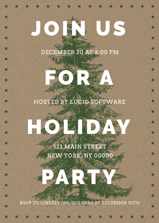 Holiday Party Invitation Business 02 (5x7)