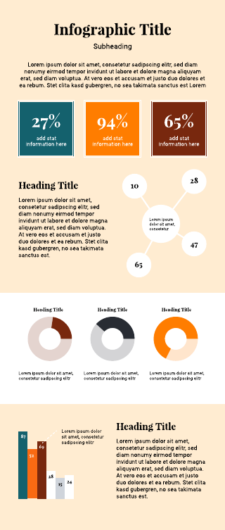 Numbers infographic template
