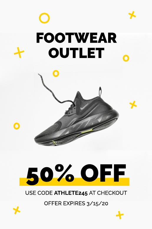 Footwear coupon template