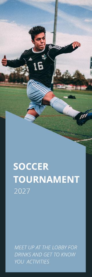 Print Soccer Vertical Banner Template