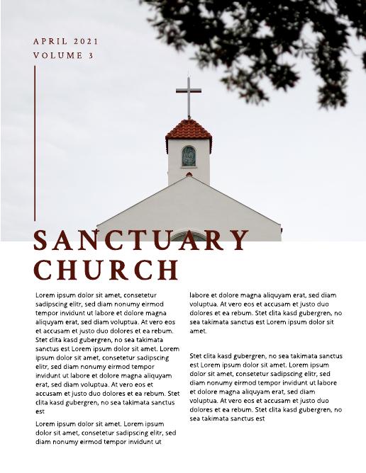Maroon Church Newsletter Template
