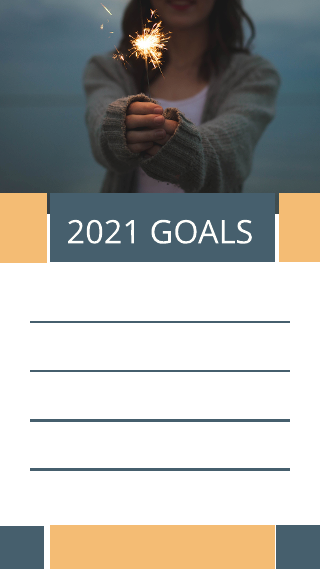 New Years Goals Instagram Story Template