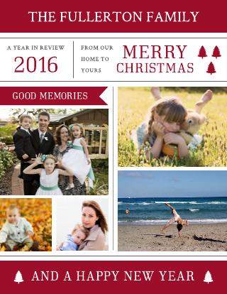Photo Christmas Newsletter Template
