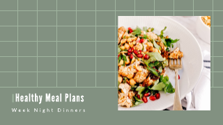 Green Meal Plan Youtube Thumbnail Template