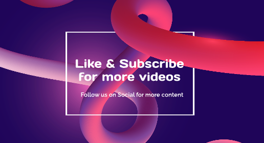 Abstract Shape Youtube End Screen Template