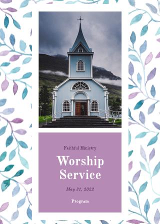 Worship Service Program Template