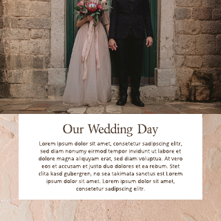 Rose and Cream Wedding Instagram Post Template