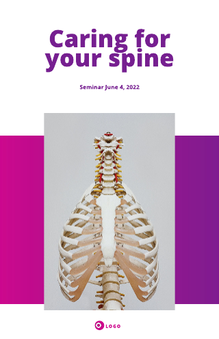 Spinal Health Medical Poster Template