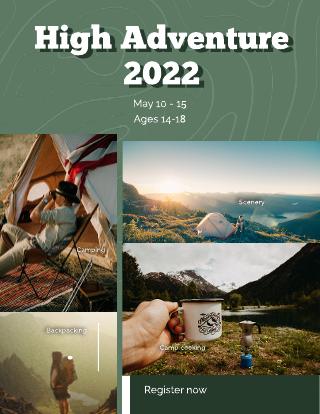High Adventure Camp Flyer Template