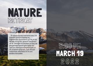 nature retreat event flyer template