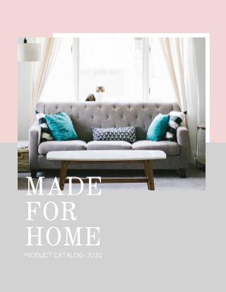 Feminine home catalog template