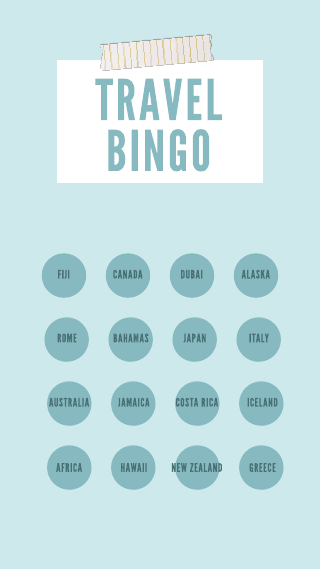 Travel Bingo Instagram Story Template