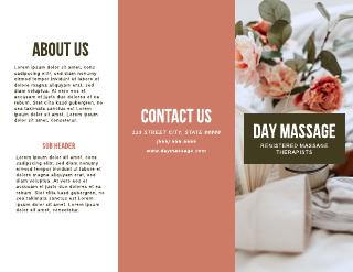Floral Massage Brochure Template
