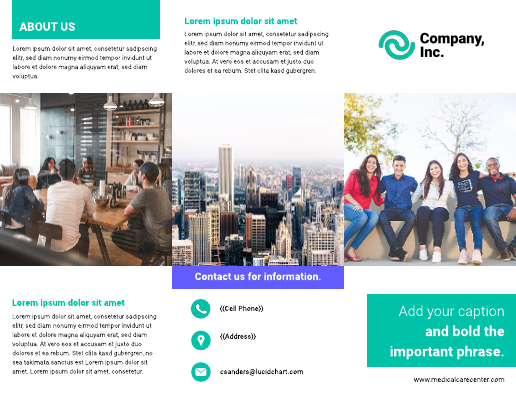 Visual trifold brochure template