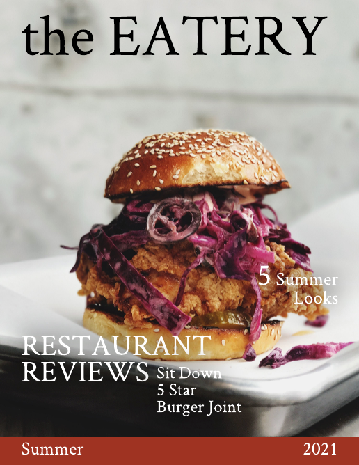 Food Review Food Magazine Template