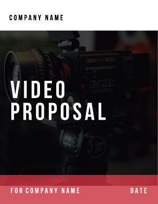 Video proposal template