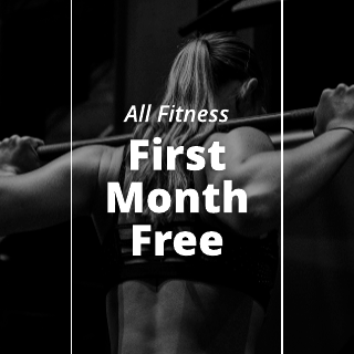Black and White Fitness Sale Instagram Post Template
