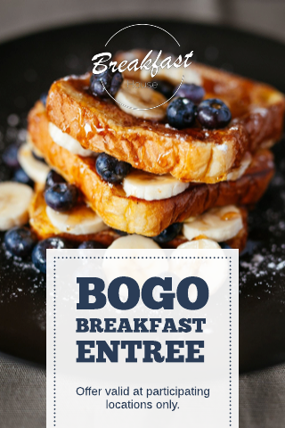 Breakfast coupon template