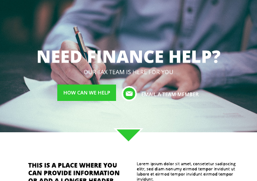 Financial Institution Website Template
