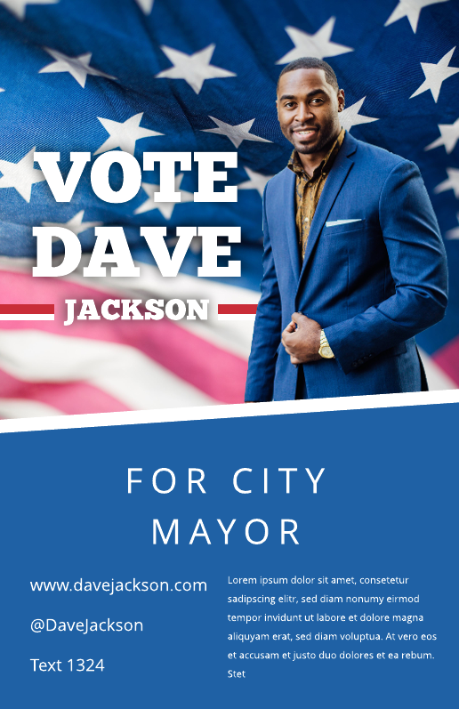 Campaign poster template
