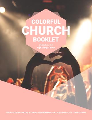 Energized Church Bulletin Template