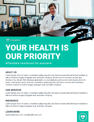 Healthcare business flyer template
