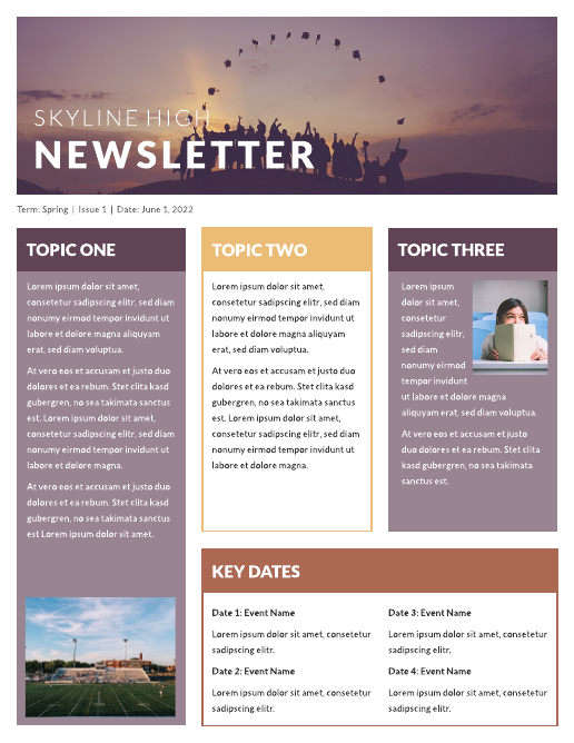 classroom newsletter example