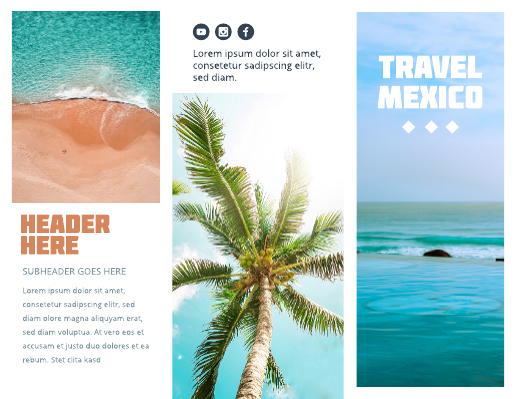 Large Photo Mexico Travel Brochure Template