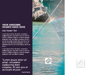 Mediterranean Business Tri-Fold Brochure Template