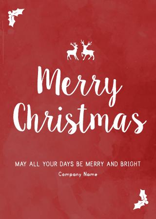Festive Business Christmas Card (5x7)