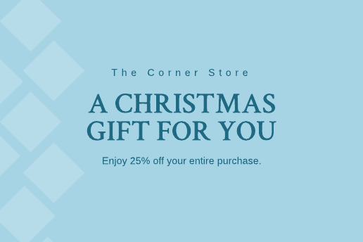 Blue Christmas gift certificate template