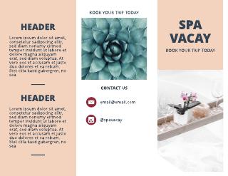 Spa Vacation Travel Tri-Fold Brochure Template
