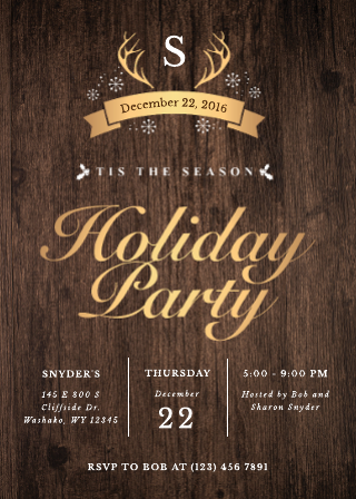Regal Holiday Party Invitation Template