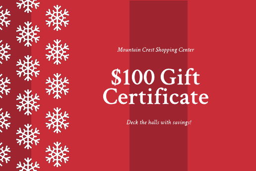 Red Christmas gift certificate template