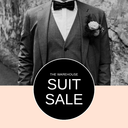 Black and White Men's Suit Facebook Post Template